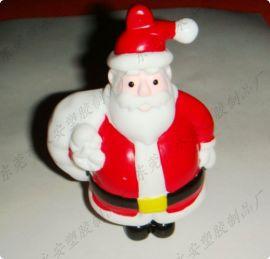 圣诞老人存钱罐 塑胶公仔 PVC搪胶公仔