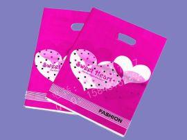 【厂家直销】手提塑料袋 彩色印刷手孔塑料袋 礼品服装用袋