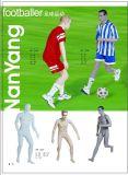踢足球運動模特道具,體育運動櫥窗陳列模特,動態模特模型道具