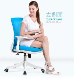 泉琪 椅子 老板椅转椅电脑椅家用网布办公椅工学休闲椅学生靠背椅