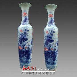 景德镇陶瓷落地大花瓶仿古清明上河图青花瓷 客厅摆件酒店装饰