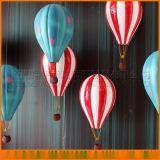 玻璃鋼雙色熱氣球 烤漆多彩氣球道具 櫥窗熱氣球 商場中庭裝飾