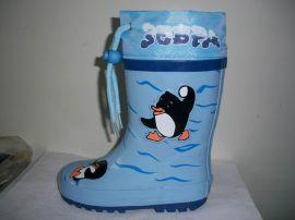 可爱小企鹅款全胶童雨鞋