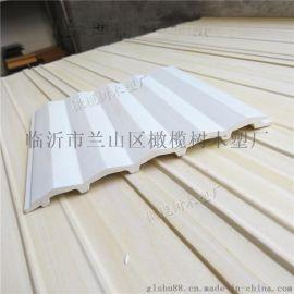 生态木小长城内墙板广告牌护墙板三角板150*9