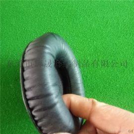 厂家生产高周波电压头带头条 头戴式耳机皮套 环保蛋白皮耳套