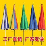 單股筋戶外廣告促銷太陽傘摺疊大傘擺攤遮陽傘