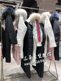 高端女裝雪倫18年新款大毛領羽絨服品牌折扣女裝尾貨