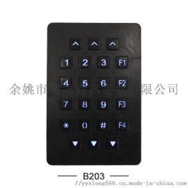 厂家直销嵌入式B203不锈钢门禁键盘安防门键盘