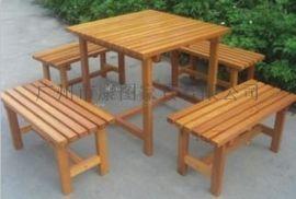 湖南实木桌椅 户外休闲桌椅批发定制