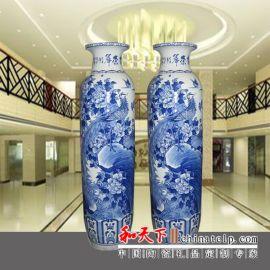 仿古青花陶瓷花瓶 招财红花瓶 定做 颜色釉家居摆件
