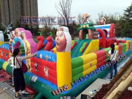 陕西宝鸡儿童充气城堡充气蹦蹦床最新款滑梯价格