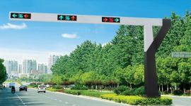 三色一体交通信号灯杆