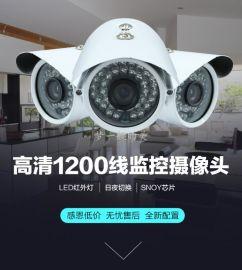 促销高清sony1200线模拟监控摄像头 红外夜视摄像机 60龟壳探头