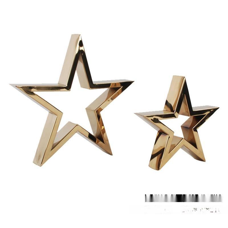 欧式创意样板房摆件欧式工艺品礼品家居饰品摆件五角星摆件包邮