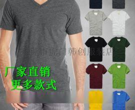 2018男装时尚百搭圆领T恤 休闲纯棉条纹短袖