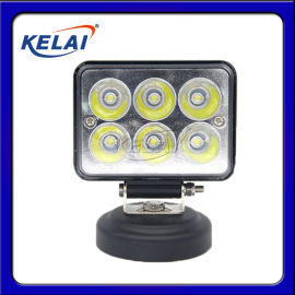 KLL87F6ZFB LED 3寸方总成改装灯18W 6颗珠黑色铝壳6000K 反光杯 KELAI