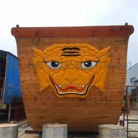殿宝景观木船制造厂供应大型景观海盗船 海盗船游乐设施 景观亮化表演道具船