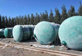圆形玻璃钢化粪池 一体化玻璃钢化粪池结构紧凑