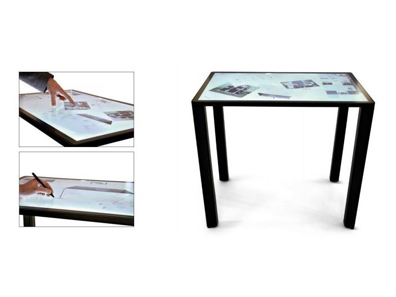 超薄苹果款防爆触控桌 /纯平电容屏