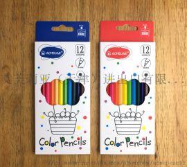 木质绘画书写彩色铅笔 12色套装彩色铅笔