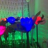 LED發光蘆葦燈地插燈模擬草坪模擬蘆葦地插草坪燈