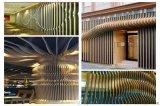 德普龍弧形鋁方通 火鍋店弧形鋁方通 吊頂鋁方通造型