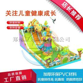山东淄博充气滑梯蹦蹦床移动式游乐园