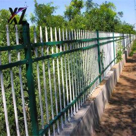 锌钢篱笆护栏,院墙锌钢防护围栏,定做围墙护栏厂区