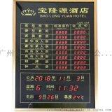 酒店價格標識賓館今日房價客房價目表LED電子利率牌金價日曆天氣