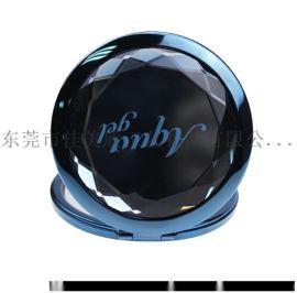水晶折叠化妆镜 广告促销水晶小镜子定做图案