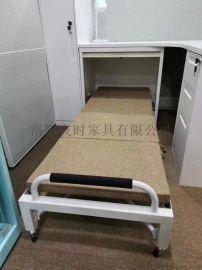 员工抽屉式折叠床,屏风隐形折叠床,隐形伸缩陪护床