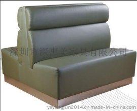 酒店沙发精品皮质沙发中西餐厅****卡座沙发咖啡厅时尚沙发