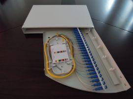 深圳毅宏光通信12-24口旋转式光纤终端盒19英寸光纤配线架机架固定安装