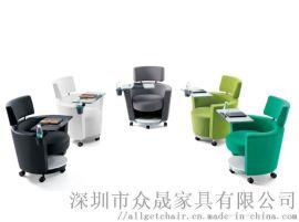 写字板沙发椅 商务会客沙发 接待记录沙发