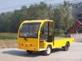载重三吨不封闭平板车。电动货车