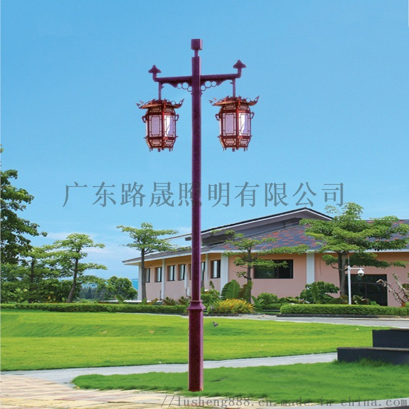 小区用双头中式庭院灯 定做景观庭院灯 定制仿古庭院灯