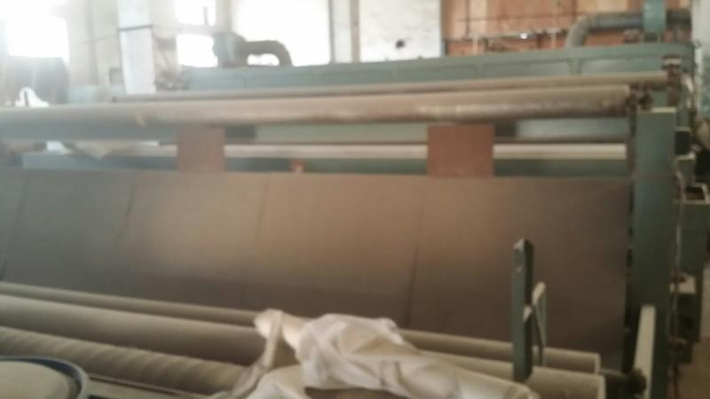 轉讓閒置二手型號土工塗布機械一套可以做防水材料
