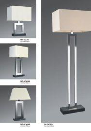 304不锈钢酒店客房灯,美式底座带开关插座双杆台灯,落地灯,床头灯