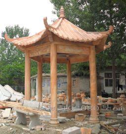 晚霞红大理石亭子(高度4.5米)