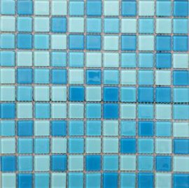 蓝色马赛克砖_蓝色混色水晶玻璃马赛克游泳池瓷砖贴【价格,厂家,求购 ...
