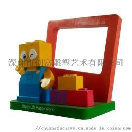 厂家定制卡通泡沫雕塑大型户外景观玻璃钢雕塑美陈摆件
