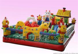 60平方米梦幻城堡   贵州六盘水儿童室外充气城堡乐园