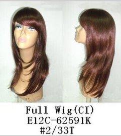 E12C-62591K  女士全头套假发