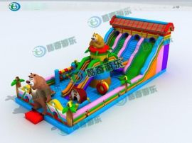 哪里有儿童乐园用的蹦蹦床买 充气玩具蹦蹦床