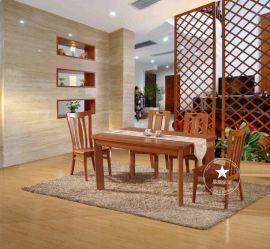 恒岳家具厂家直销纯实木美国红橡木餐桌椅现代简约长条桌椅子饭桌
