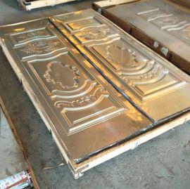 彩色不锈钢拉丝镀铜板