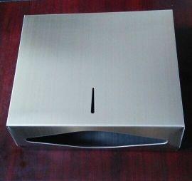 不锈钢擦手纸箱,壁挂式手纸盒,洗手间干手纸器