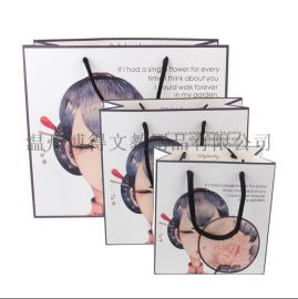 小植物节日高档礼品袋纸袋 小清新风格创意手提袋子包装袋回礼袋