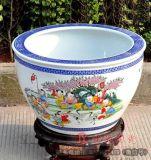 大魚缸批發 荷花養魚缸圖片 定做陶瓷缸廠家