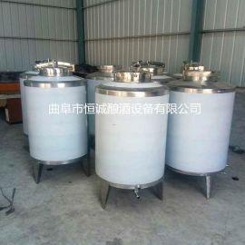厂家批发304食品级不锈钢储罐 酒厂储存罐 立式加厚密封发酵罐